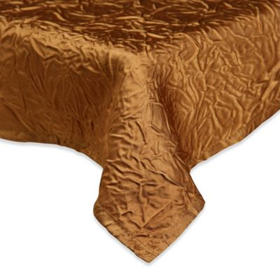 Eugenia Linens Luxury Essentials 132-Inch Round Crinkled Crepe Overlay in Gold (Set of 6)