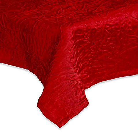 Luxury Essentials Burgundy Crinkled Crepe 90-Inch Round Overlay (Set of 6)
