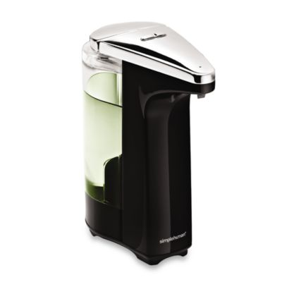 simplehuman® 8-Ounce Sensor Pump Soap Dispenser in Black