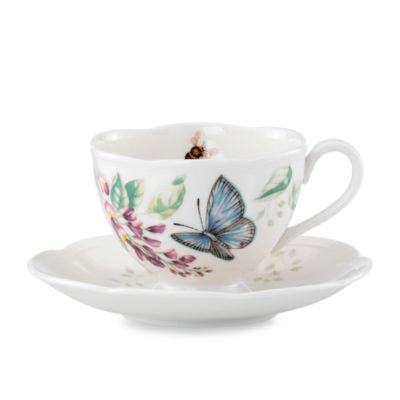 Lenox® Butterfly Meadow Blue Butterfly Cup & Saucer Set