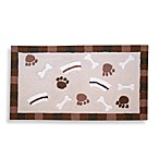 Framed BonesBowls & Paws 20-Inch x 32-Inch Brown Pet Mat