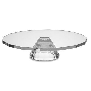 Oleg Cassini Footed Cake Plate/Crudite