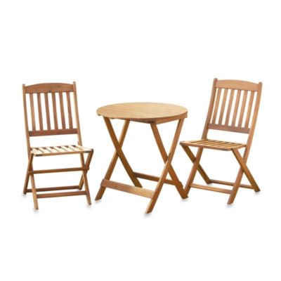 3-Piece Wood Bistro Set