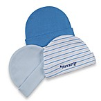 Goldbug™ Preemie Caps - Blue (3-Pack)