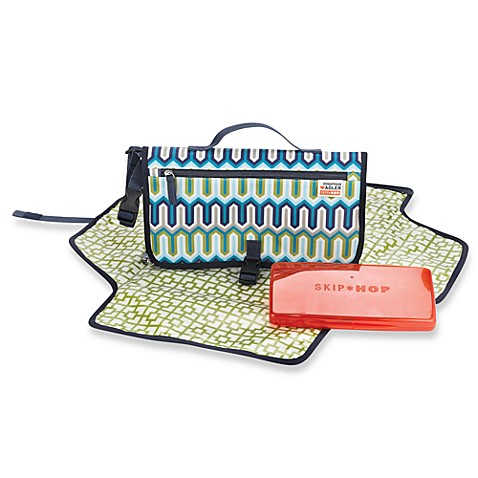 Jonathan Adler forSKIP*HOP® Pronto Diaper Changing Station in Blue Chevron
