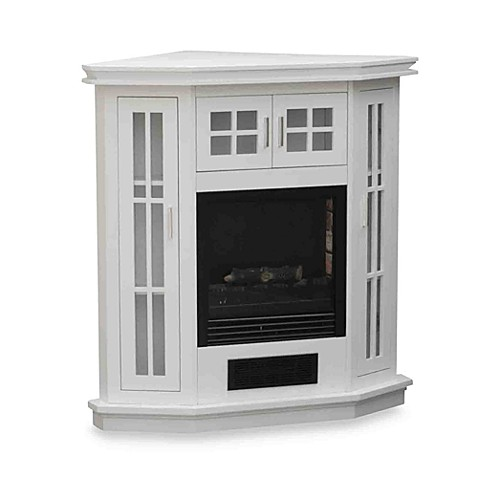 The Stay Warm™ Electric Corner Fireplace Heater