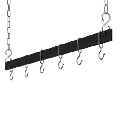 Rogar 36-Inch Bar Pot Rack in Black