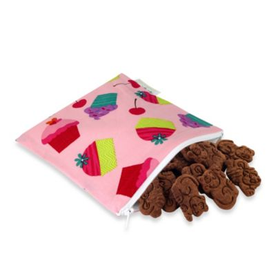 Itzy Ritzy® Snack Happens™ Reusable & Washable Snack Bag in Cupcake Couture