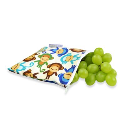 Itzy Ritzy™ Snack Happened™ Reusable & Washable Snack Bag in Funky Monkey Remix