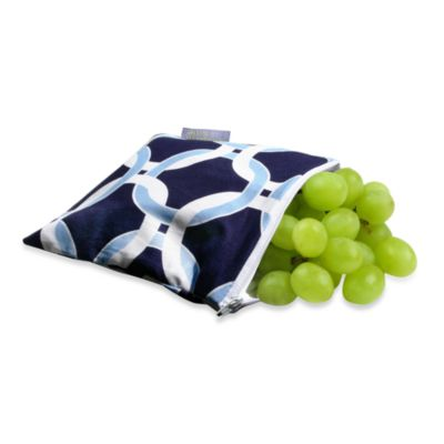 Itzy Ritzy™ Snack Happened™ Reusable & Washable Snack Bag in Social Circle Blue