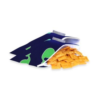 Itzy Ritzy™ Snack Happened Mini™ Mini Reusable & Washable Snack Bags in Whale Watching Blue