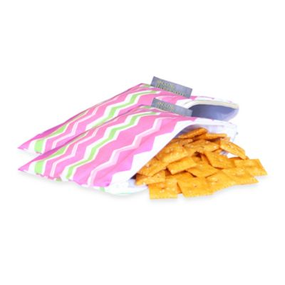 Itzy Ritzy™ Snack Happened Mini™ Mini Reusable & Washable Snack Bags in Little Miss Zig Zag