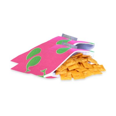 Itzy Ritzy™ Snack Happened Mini™ Mini Reusable & Washable Snack Bags in Whale Watching Pink