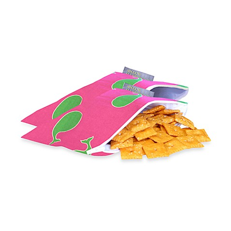 Itzy Ritzy Snack Happened Mini™ Mini Reusable & Washable Snack Bags in Whale Watching Pink