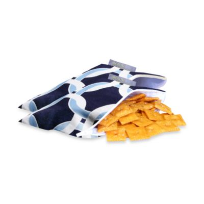 Itzy Ritzy™ Snack Happened Mini™ Mini Reusable & Washable Snack Bags in Social Circle Blue