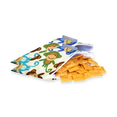 Itzy Ritzy™ Snack Happened Mini™ Mini Reusable & Washable Snack Bags in Funky Monkey Remix