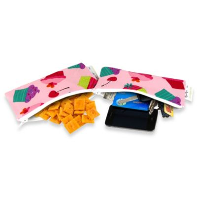 Itzy Ritzy® Snack Happens Mini™ Mini Reusable & Washable Snack Bags in Cupcake Couture