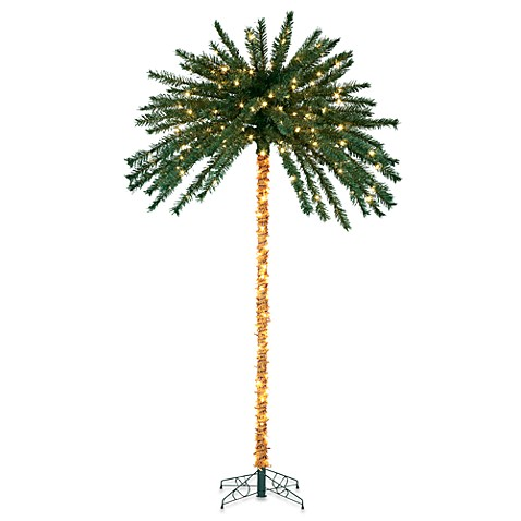 7-Foot Pre-Lit Palm Tree