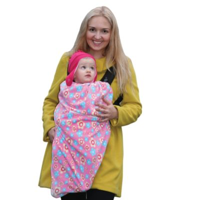 Cocoon Baby in c.® Baby Carrier Cover in Pink Flowers
