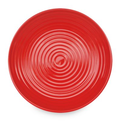 Q Lifestyles Ridge 8 1/2-Inch Salad Plate in Red (Set of 6)