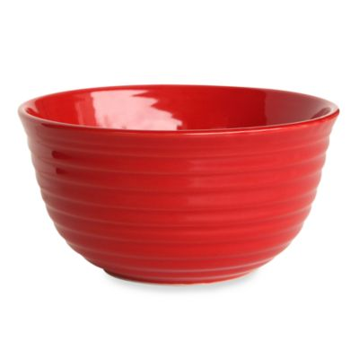 Q Lifestyles Ridge 6-Inch Cereal Bowl in Red (Set of 6)