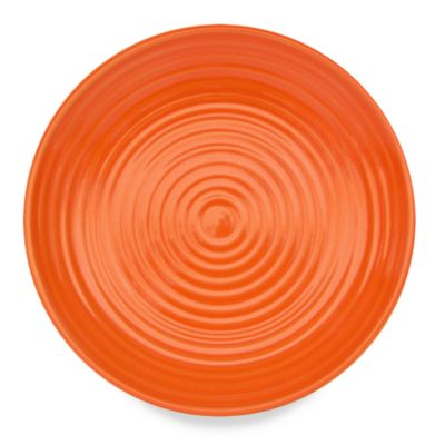 "Q Lifestyles Ridge Orange 8 1/2"" Salad Plate - Set of 6"