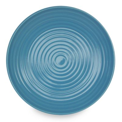 Q Lifestyles Ridge 8 1/2-Inch Salad Plate in Azure (Set of 6)