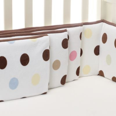 kidsline™ Large Dot 4-Piece Bumper Set