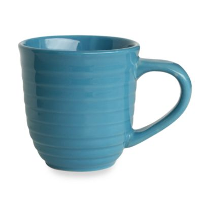 Q Lifestyles Ridge 14-Ounce Mug in Azure (Set of 6)