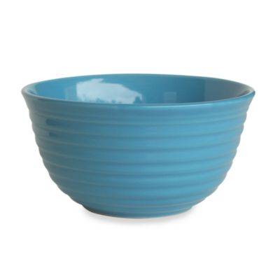 Q Lifestyles Ridge 6-Inch Cereal Bowl in Azure (Set of 6)