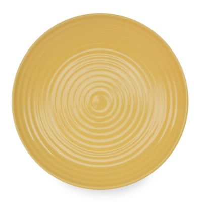 Q Lifestyles Ridge 8 1/2-Inch Salad Plate in Butter (Set of 6)