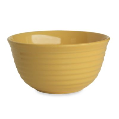 Q Lifestyles Ridge 6-Inch Cereal Bowl in Butter (Set of 6)