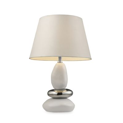 Elemis 19-Inch Pure White Table Lamp