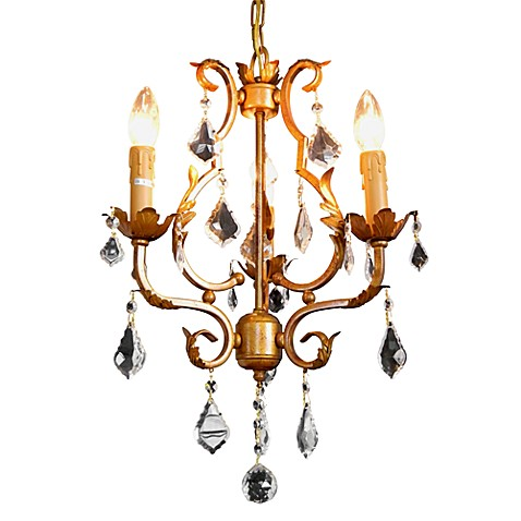 Gallery Wrought Iron Mini Chandelier with 3-Lights
