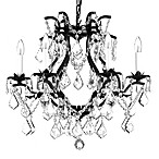 Gallery Wrought Iron and Crystal 6-Light Chandelier