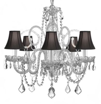 Gallery Muran Venetian Style Crystal Chandelier with Shades