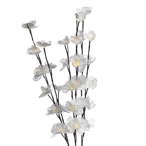 Lighted White Orchid Branches (33 Light Set)