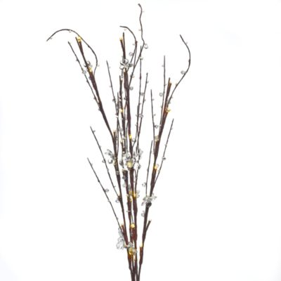 Lighted Clear Acrylic Branches with 30 Lights