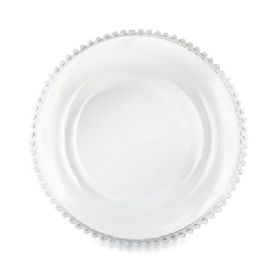 Charge It by Jay! 13-Inch Beaded Glass Charger Plate
