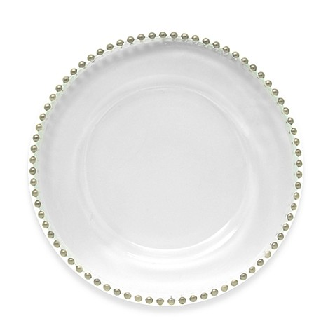 Charge It by Jay! 13-Inch Silver Bead Charger Plate