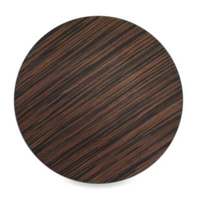 Charge It! by Jay 13-Inch Faux Wood Brown Charger Plates (Set of 4)