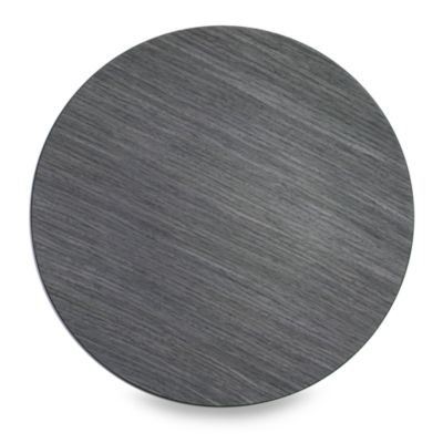 Jay! 13-Inch Faux Wood Grey Charger Plates