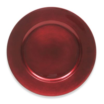 Charge It by Jay! 13-Inch Charger Plates in Red (Set of 4)