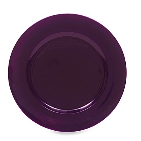 Charge It by Jay! Purple Round Charger Plates (Set of 8)