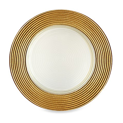 Charge It by Jay! Gold Glitter Glass Charger Plates - Set of 4