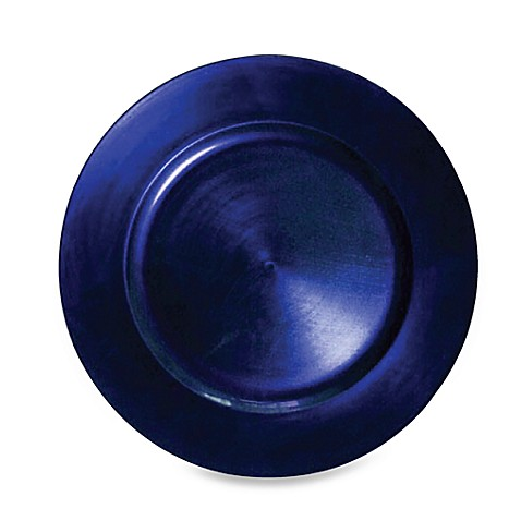 Charge It by Jay! Blue Round Charger Plates (Set of 8)