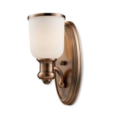 Elk Lighting Brooksdale 1-Light Sconce in Antique Copper