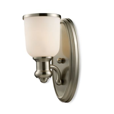 ELK Lighting Brooksdale 1-Light Sconce in Satin Nickel