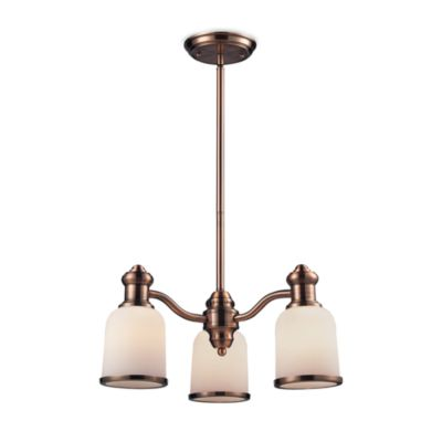 Elk Lighting Brooksdale 3-Light Chandelier in Antique Copper