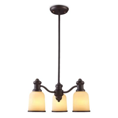 ELK Lighting Brooksdale 3-Light Chandelier in Oiled Bronze